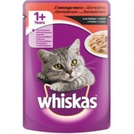 WHISKAS Sosići Govedina 100gr